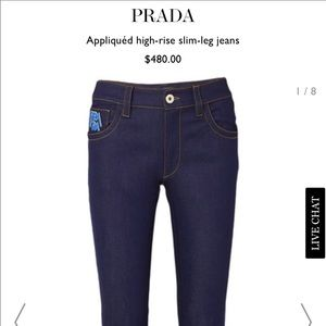 NWT New Season Prada Straight Leg Jeans Sz25 $480